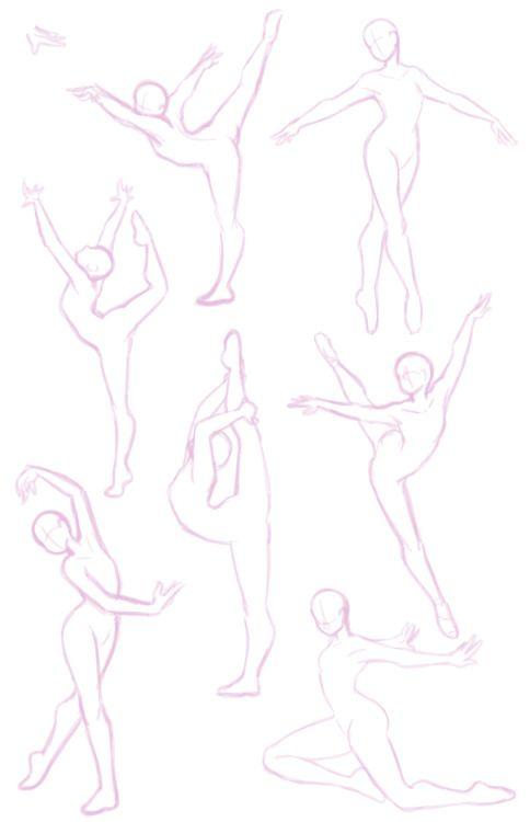 Dibujo ~ Posturas de baile