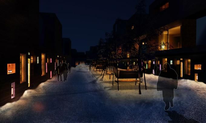 """Communiti and homes. Luonnon Lyhdyt """"Natural Lanterns"""" by West 8 and Speirs + Major."""