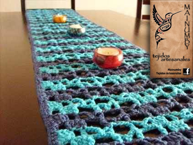 Camino de mesa productos artesanales con dise os - Caminos de mesa originales ...
