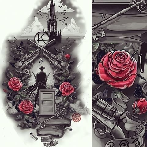 bad ass ink the dark tower pinterest la torre oscura torre y oscuro. Black Bedroom Furniture Sets. Home Design Ideas