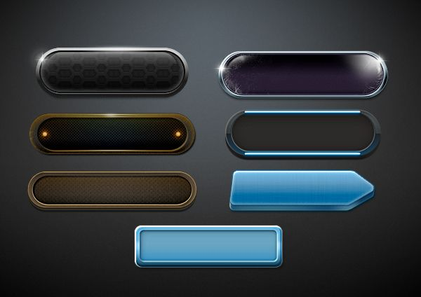 UI & UIX elements for videogames by Paolo Ertreo, via Behance