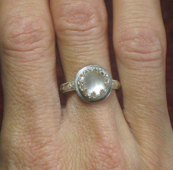 Rose Quartz Ring Sterling Silver Natural by TazziesCustomJewelry, $65.00Rings Sterling, Rose Quartz Rings