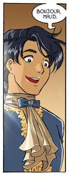 guilhem.jpg (137×350) Guilhem :Maud rencontre le comte Guilhem de Landrey lors d'un bal. Très vite, ils se trouvent des intérêts communs comme l'escrime ou les escapades à cheval. Cependant, c'est un coureur de jupons et il a assez mauvaise réputation. Il devient le professeur d'escrime de Maud.