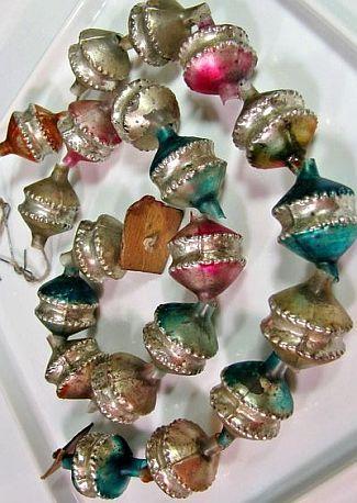 Old Christmas Glass Garland