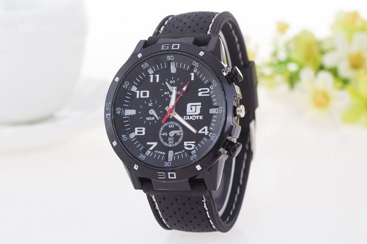Men Brand GUOTE Sport Watch zegarki meskie Leather Band Casual Quartz Watch Fashion Army Military Wristwatch relogio eletronico