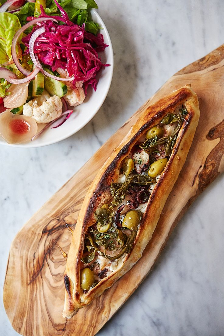 Braised octopus pide recipe  Put a Turkish twist on your next pizza party with this delicious octopus pide recipe by Selin Kiazim of Oklava restaurant