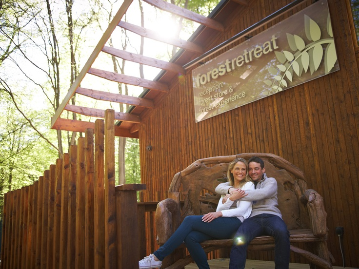 The Forest Retreat (reception, shop, cafe) at Blackwood Forest. The Forest Retreat is the hub of all activity!