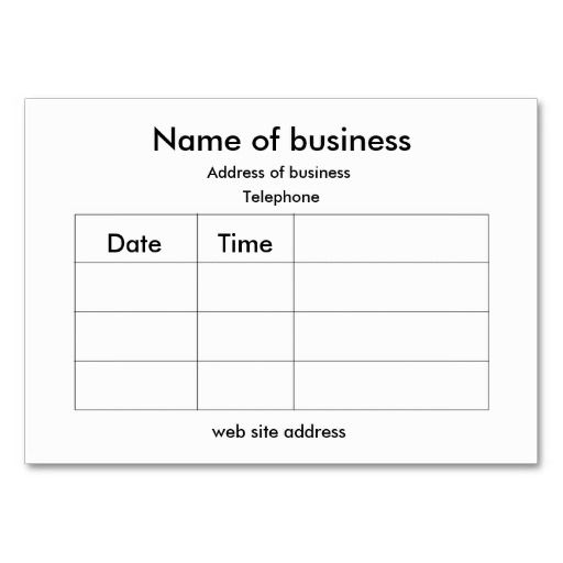 appointment cards templates free - 293 best images about appointment business card templates
