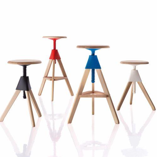 toque de color taburetes  Tisch & Stuhl-Ensemble: Topsy Bistrotisch (http://www.ikarus.de/DE_de/p/tisch-stuhl/tische/topsy.A041333.000.jsf), Tom Barhocker und Jerry Hocker (http://www.ikarus.de/DE_de/p/tisch-stuhl/hocker/jerry.A041331.001.jsf) lassen sich per Drehgewinde individuell einstellen. Perfekt für jeden Arbeitsplatz - ob Werkstatt, Küche oder Büro!