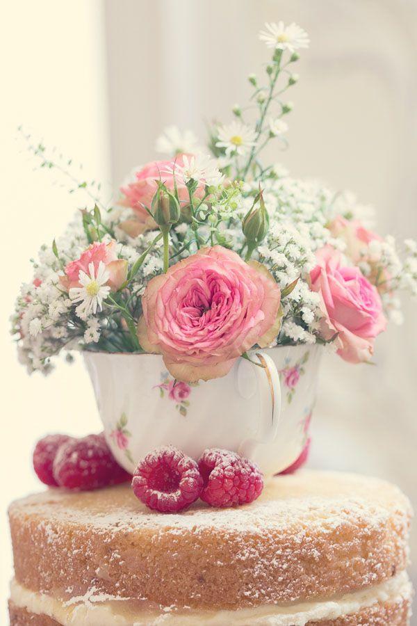 Vintage Flower Maiden Cake Topper