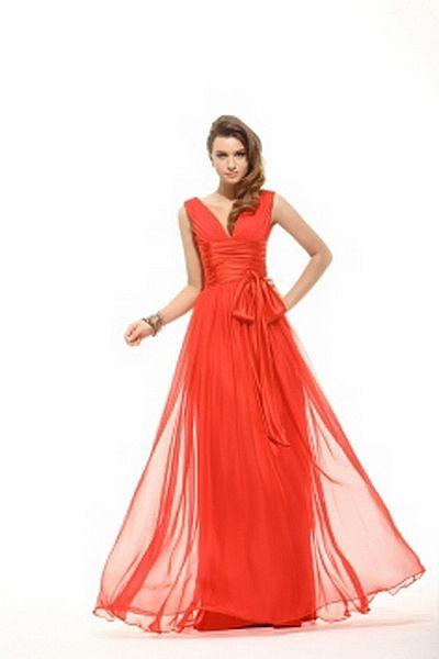 Chiffon Liebsten Rote Formale Kleider kv2466 - Silhouette: A-Line; Stoff: Chiffon, Verzierungen: Drapiert, Bowknot, Länge: Bodenlang - Price: 159.9700 - Link: http://www.kleiderverkaufen.de/chiffon-liebsten-rote-formale-kleider-kv2466.html