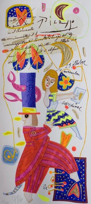 Scorpione, Francesco Musante, Serigrafia polimaterica, #gliartistidiGALP #nelsegnodiGALP