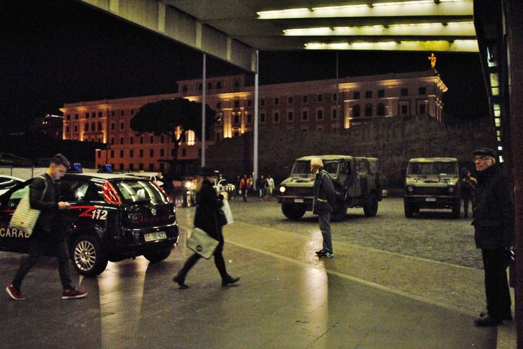 Rome after the Isis attack in Paris. There are soldiers and police everywhere. Here I was in Termini station and the Army was monitoring the area