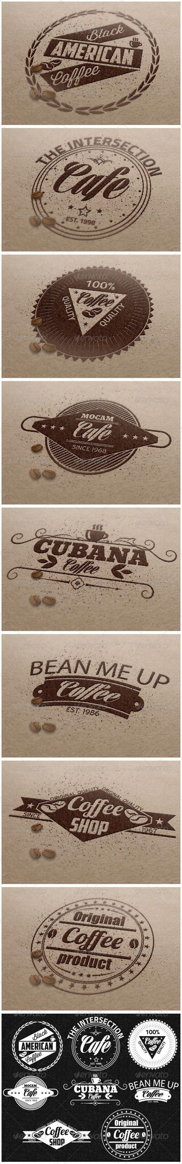 Premium Coffee Badges - Badges & Stickers Web Elements
