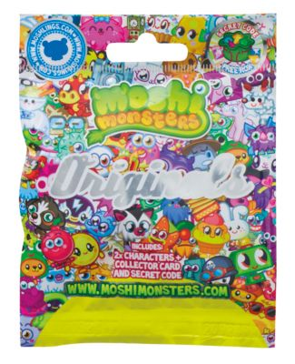 Moshi Monsters Blind Bags - Originals 78020 Please note: Styles may vary, one Moshi Monsters bag supplied per order.Collect your favourite Moshi Monsters characters. Includes 2 different Moshi collectable figures, a collector card and comes wit http://www.comparestoreprices.co.uk/childs-toys/moshi-monsters-blind-bags--originals-78020.asp