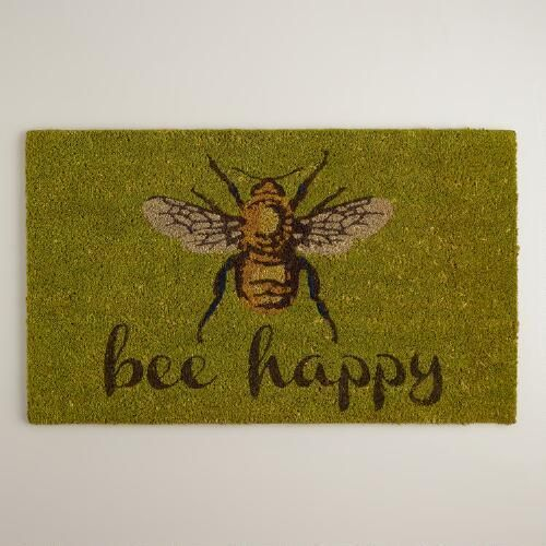 One of my favorite discoveries at WorldMarket.com: Bee Happy Doormat