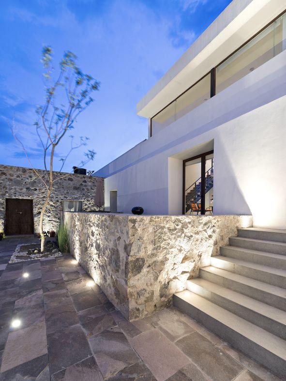 Hacienda San Antonio | Dionne Arquitectos + Posada Arquitectos #stairs #lighting #outdoor #architecture