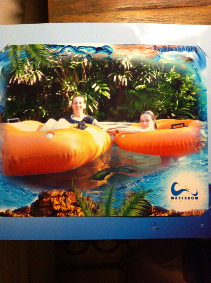 Lazy River Run. And other fun slides. Huge huge day. Fun fun day.