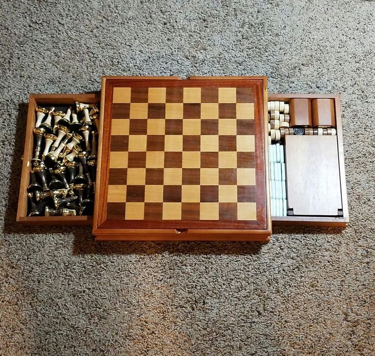 wooden board game combo