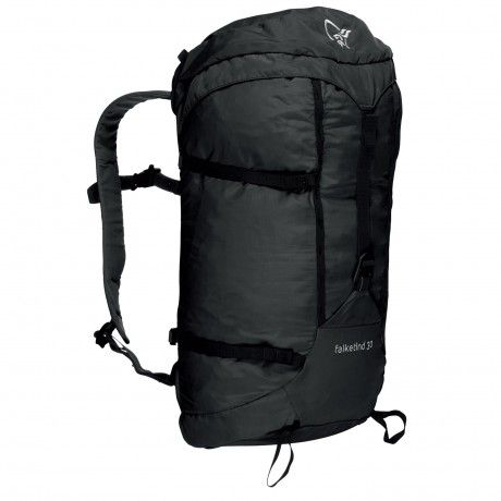 NORRONA Falketind Pack 30L | Our most light weight backpack made for all mountain activities. It weighs only 510 gr and you can pack it into the top pocket of your big pack and bring it along. The pack features two ice axe attachments, side compression, fold away light weight hip belt, top lid with outside and inside pocket, one aluminum buckle front closure, daisy chains attachments, and is compatible with drinking system.