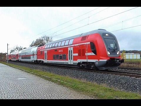 Twindexx-Messfahrten und viel Güterverkehr auf der Frankenwaldbahn und b...