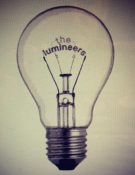 Lumineers tour poster.