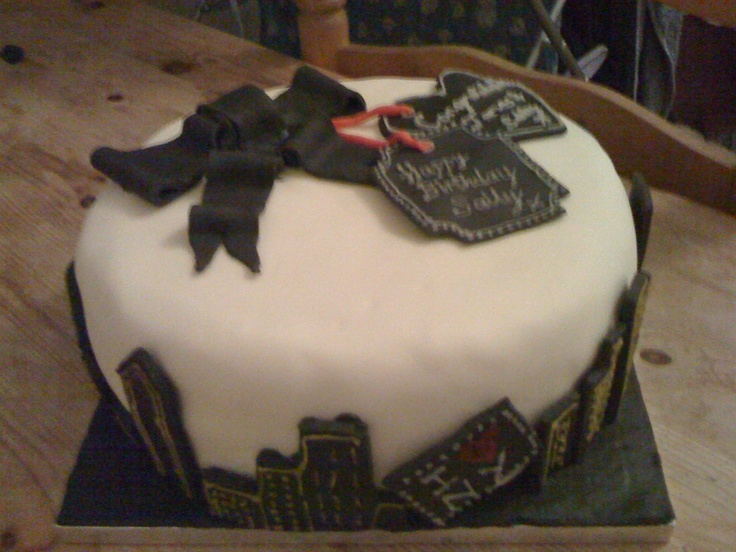 A joint birthday/ engagment cake for the fabulous Sally & James who got engaged in New York...