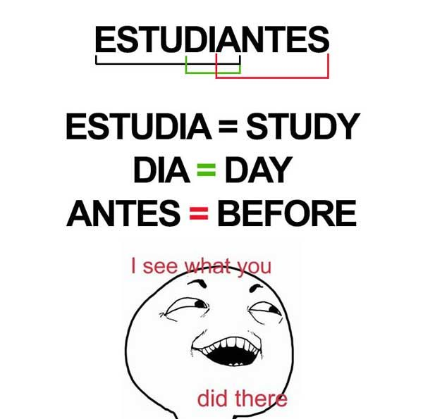 20 Funniest Memes About Spanish Language For People That Tried Learning It Shenhuifu Spanish Humor Spanish Jokes Funny Memes