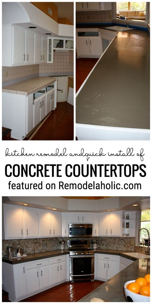 Change Up Your Kitchen With A Quick Install Of Concrete Countertops Featured On …