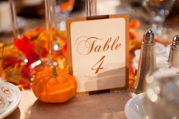 Table Number idea for fall wedding theme. Debbie Wong Photography. Debbie Wong Photography, Calgary wedding photography, www.debbiewongphotography.com