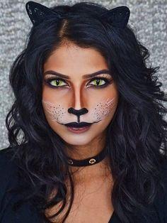 Major Halloween inspo from this black cat makeup tutorial.