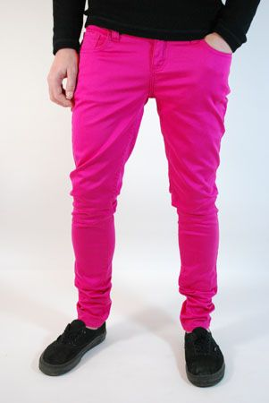 Fancy - Mens Clothing UK | Monkee Genes | Supa Skinny Pink Jeans - ScaryCanary Clothing | Mens Clothing | Womens Clothing |