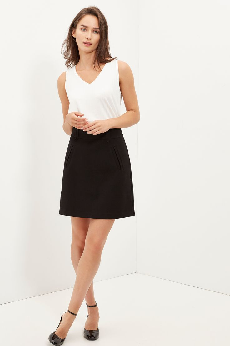 Cortefiel - Minifalda con bolsillos