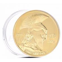 Позолоченная монета 1 Биткоин коллекция Титан - Арес