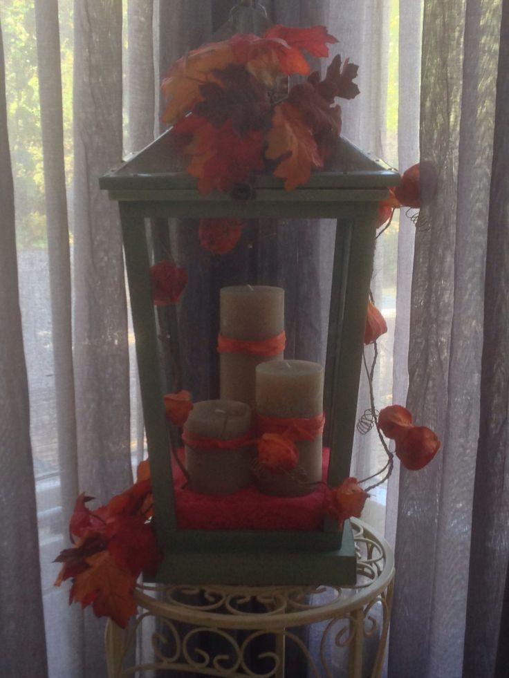 25 beste idee n over herfst lantaarn decoratie op pinterest rustieke lantaarn ornamenten - Decoratie hal huis ...