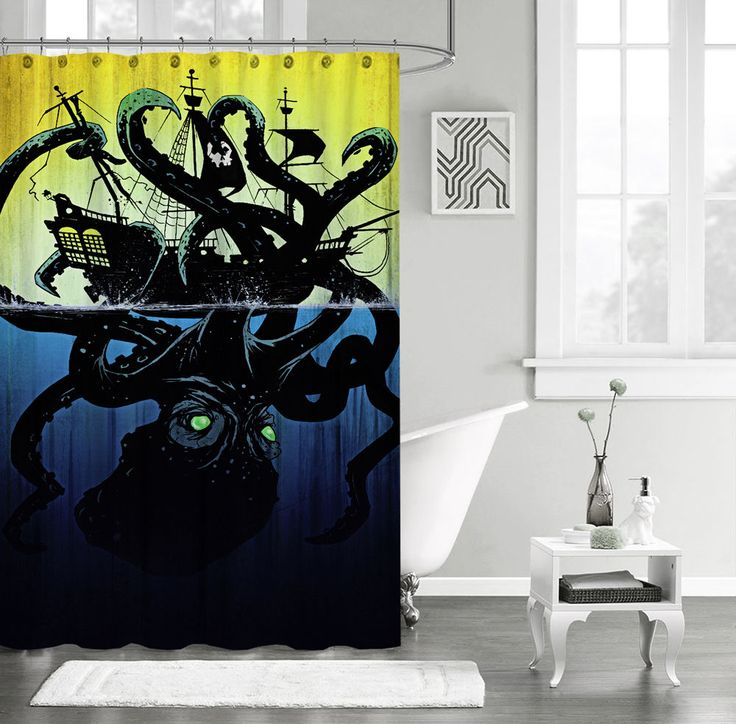 "New Octopus Vintage art Design Custom Shower Curtain 60"" x 72"" #Unbranded #Modern #shower #Curtain #Best #Seller #Custom #Design  #Cheap #New #Hot #Gift #Special #Family #Friend"