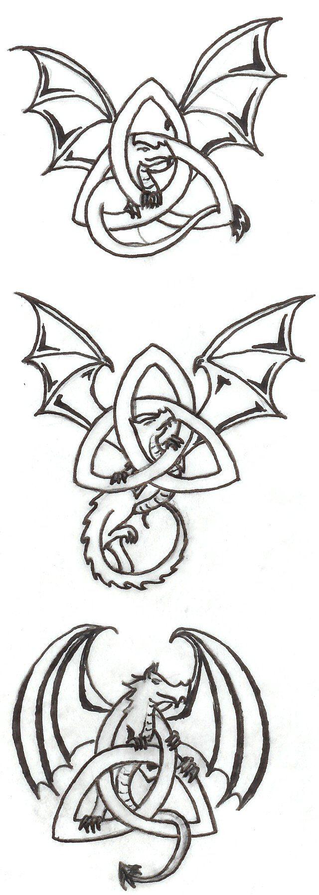 Celtic Dragons by daughterdragonviantart on DeviantArt