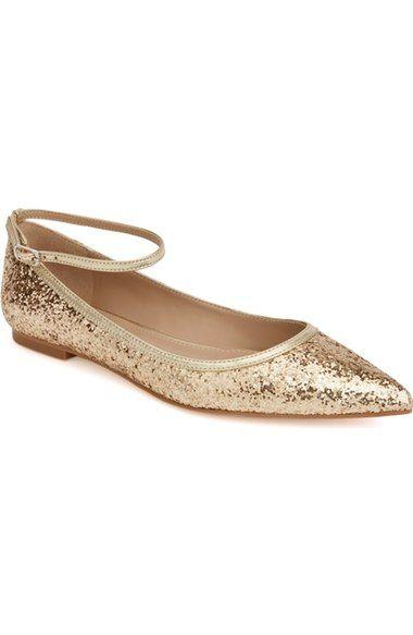 Shoes of Prey x Megan Hess Fleur-de-lis Collection Sparkle Flat (Women) available at #Nordstrom