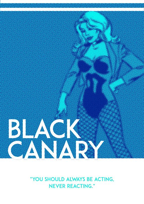 Black Canary Poster - James Molinaro