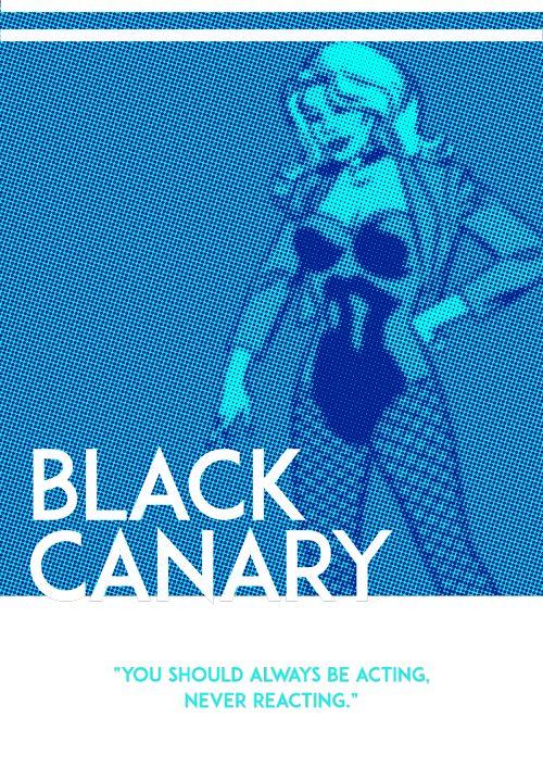 Black Canary Poster - James Molinaro