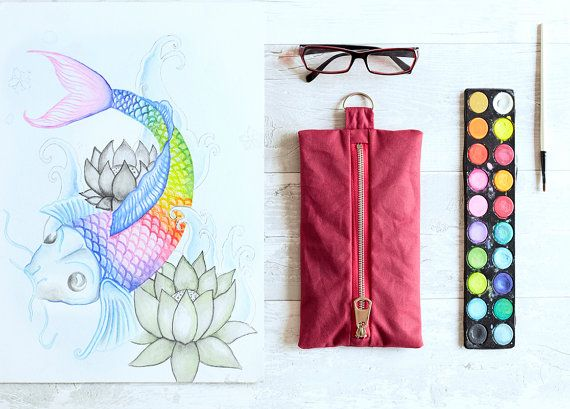 Pencil Case Large Pencil Case Pencil Holder by WildMarshmallow
