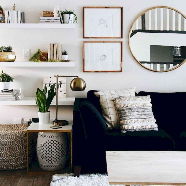 80 smart solution small apartment living room decor ideas (19