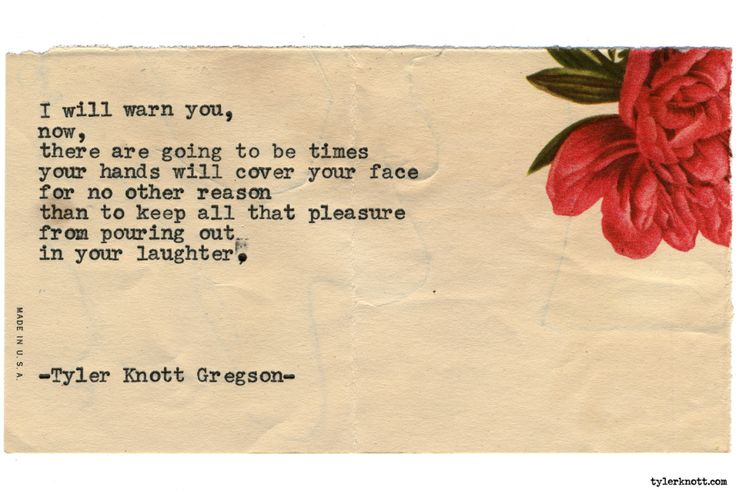 Typewriter Series #1729 by Tyler Knott Gregson