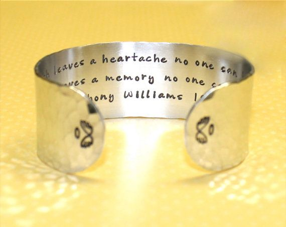 Sympathy Gifts | Memorial Gifts | Bereavement Gifts | Condolence Gift | Custom Hand Stamped Cuff Bracelet by Korena Loves