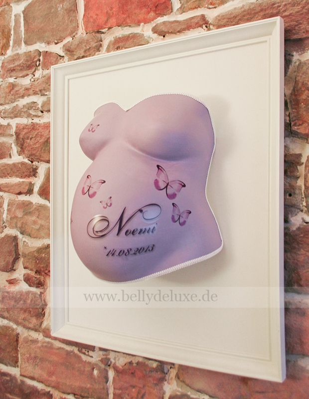Belly cast in wooden Frame with Belly Deluxe stickers