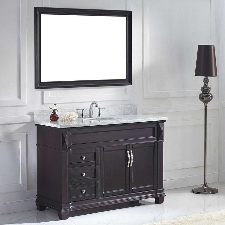 Virtu Victoria MS-2648 48 in. Single Bathroom Vanity with Round Sink - MS-2648-WMRO-ES-001