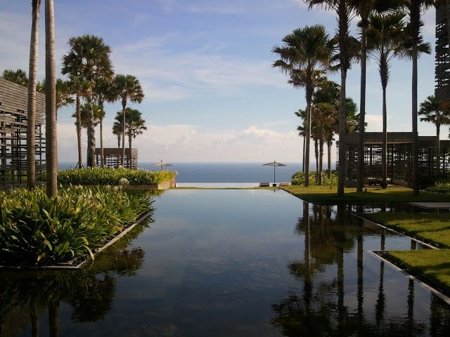 Stunning view from the lobby at Alila Villas Uluwatu
