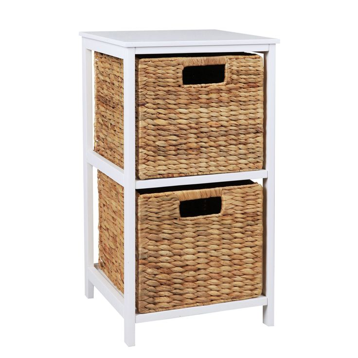 Form Beige & White MDF & Solid Pine 2 Drawer Tower Unit | Departments | DIY at B&Q