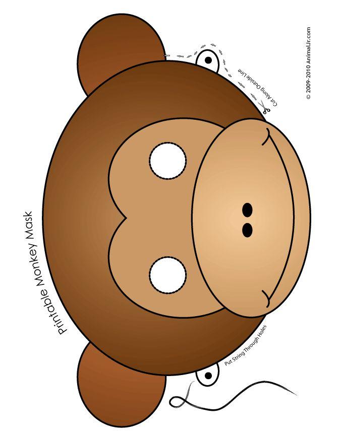 Printable Animal Masks: Monkey Mask printable-monkey-mask – Craft Jr.