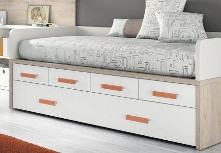 M s de 1000 ideas sobre cama con cajones en pinterest - Como hacer una cama nido con cajones ...